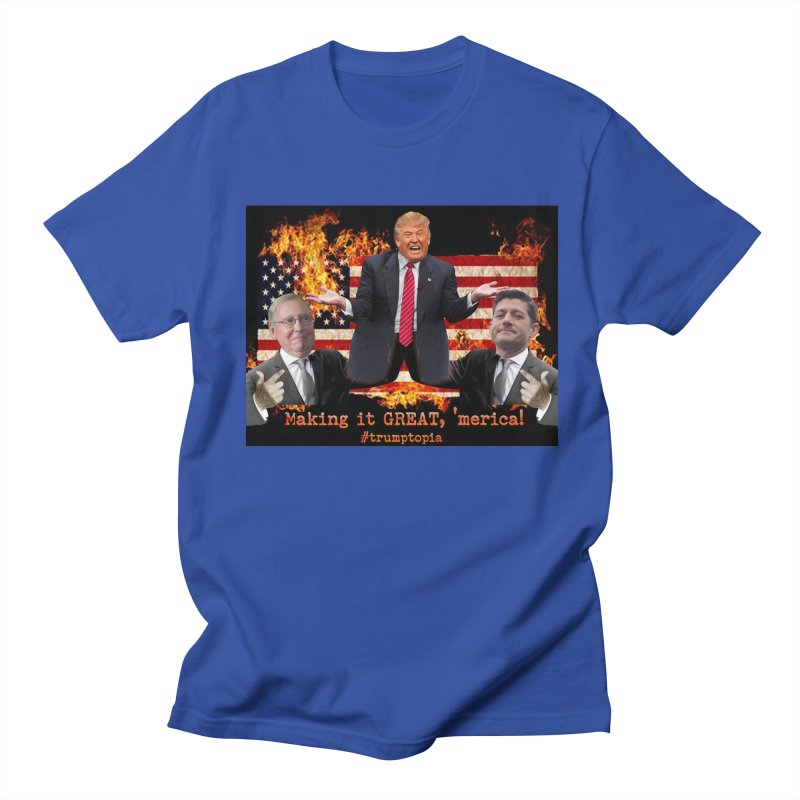 Trumptopia Women's Regular Unisex T-Shirt by Fringe Walkers Shirts n Prints
