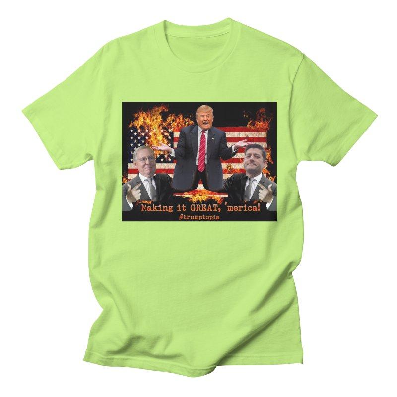 Trumptopia Women's Regular Unisex T-Shirt by Fringe Walkers Shirts n Prints