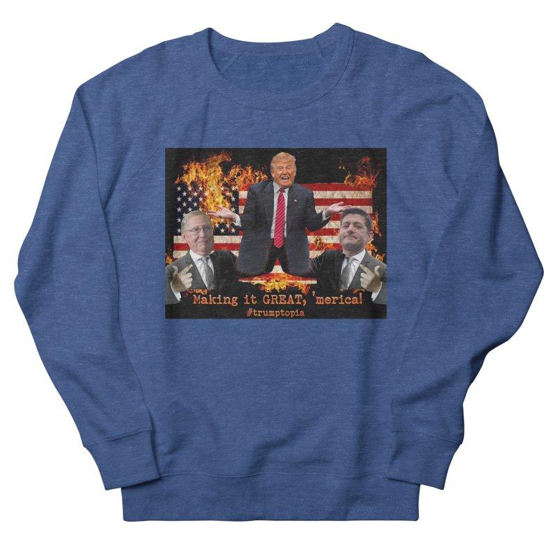 Trumptopia Women's Sweatshirt by Fringe Walkers Shirts n Prints