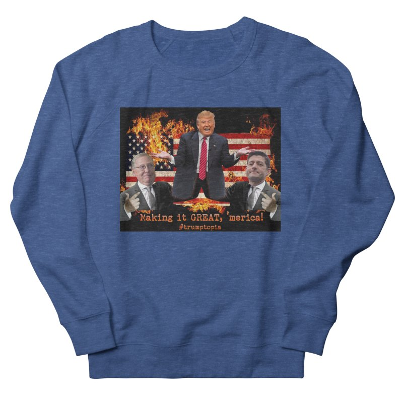 Trumptopia Men's Sweatshirt by Fringe Walkers Shirts n Prints