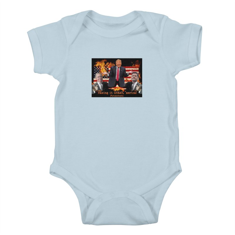 Trumptopia Kids Baby Bodysuit by Fringe Walkers Shirts n Prints