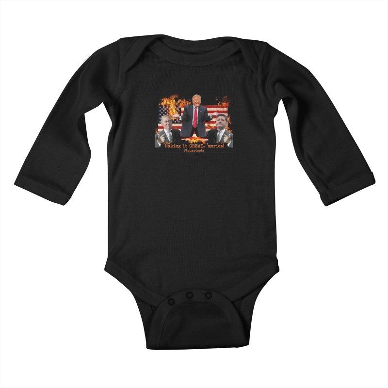 Trumptopia Kids Baby Longsleeve Bodysuit by Fringe Walkers Shirts n Prints