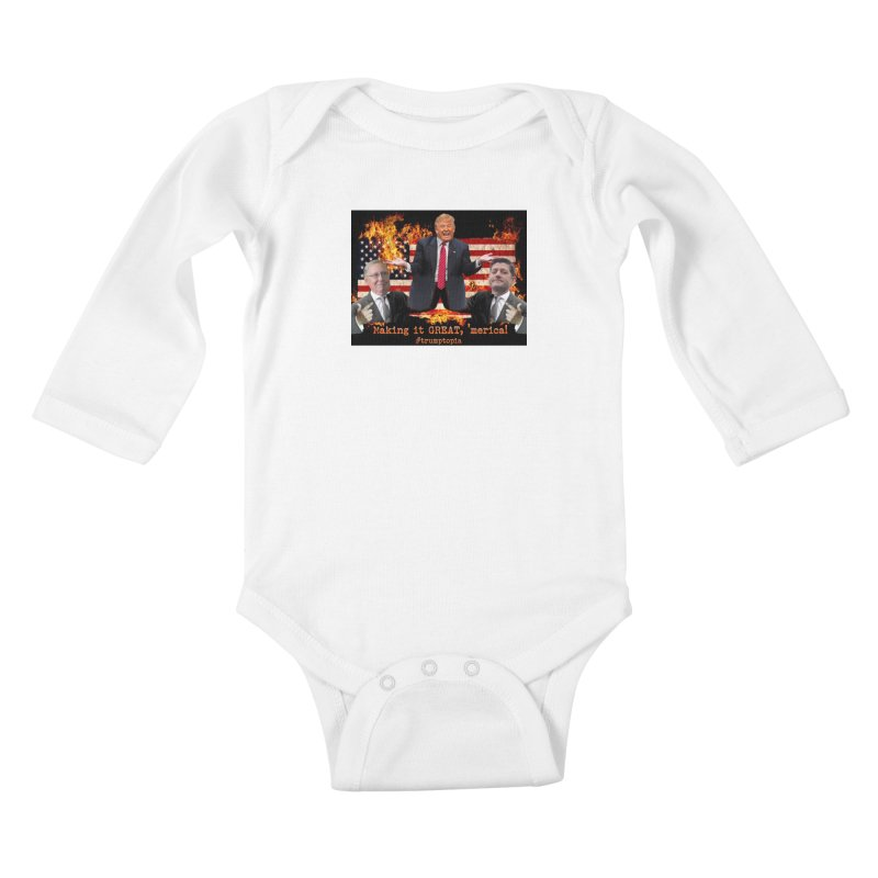 Trumptopia Kids Baby Longsleeve Bodysuit by Fringe Walkers Shirts n Prints