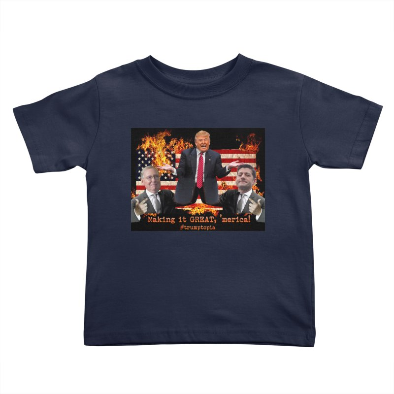 Trumptopia Kids Toddler T-Shirt by Fringe Walkers Shirts n Prints