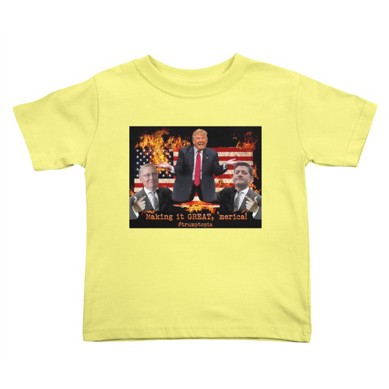 Trumptopia Kids Toddler T-Shirt by Fringe Walkers Shirts n Prints
