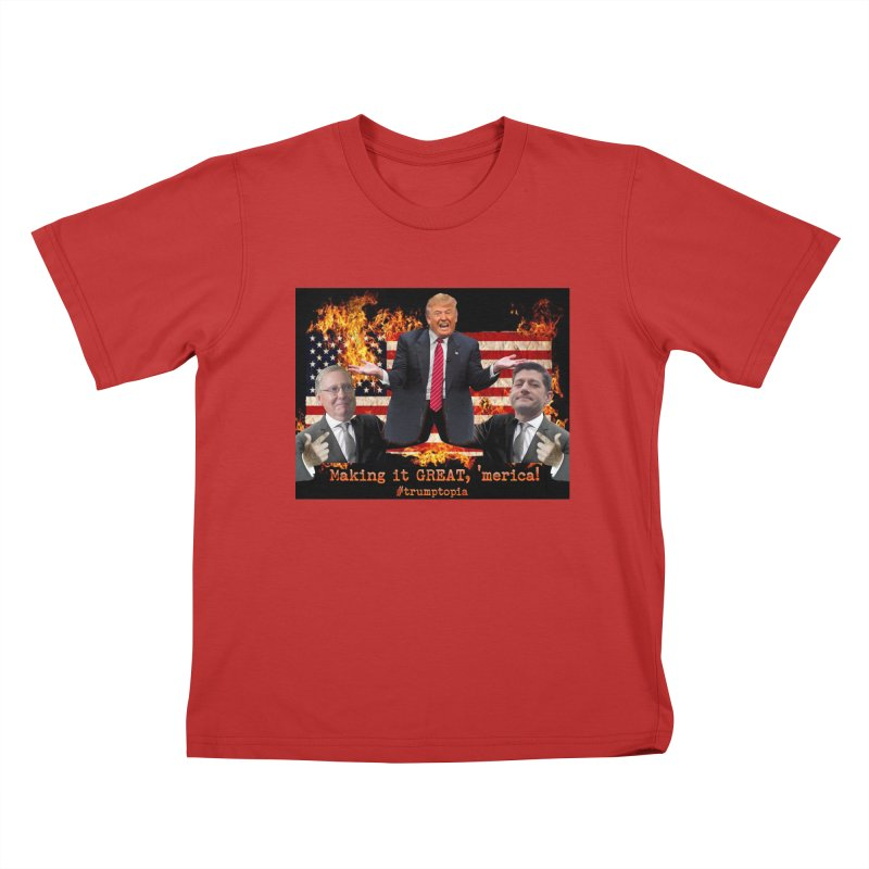Trumptopia Kids T-Shirt by Fringe Walkers Shirts n Prints