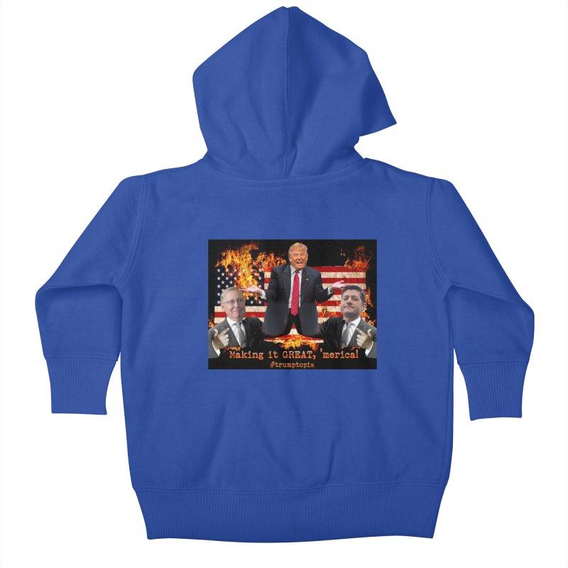 Trumptopia Kids Baby Zip-Up Hoody by Fringe Walkers Shirts n Prints