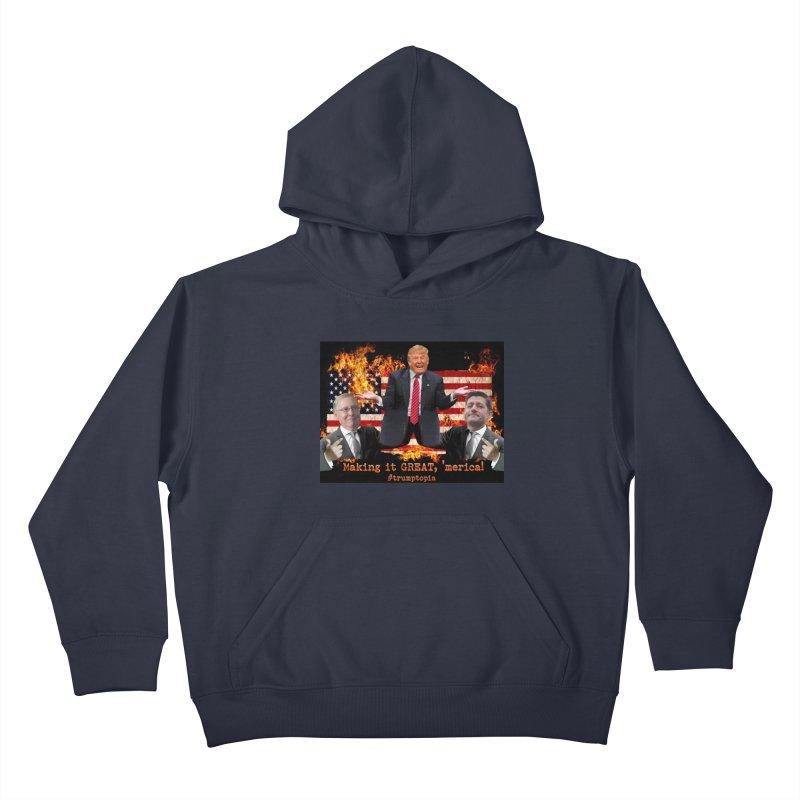 Trumptopia Kids Pullover Hoody by Fringe Walkers Shirts n Prints