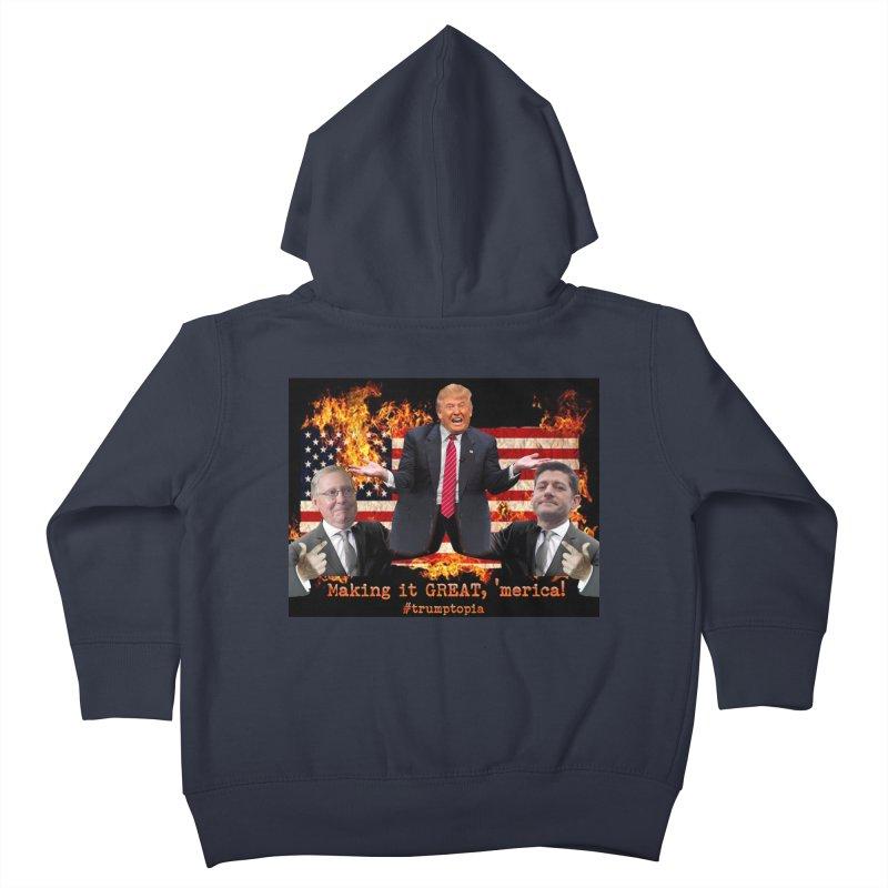 Trumptopia Kids Toddler Zip-Up Hoody by Fringe Walkers Shirts n Prints