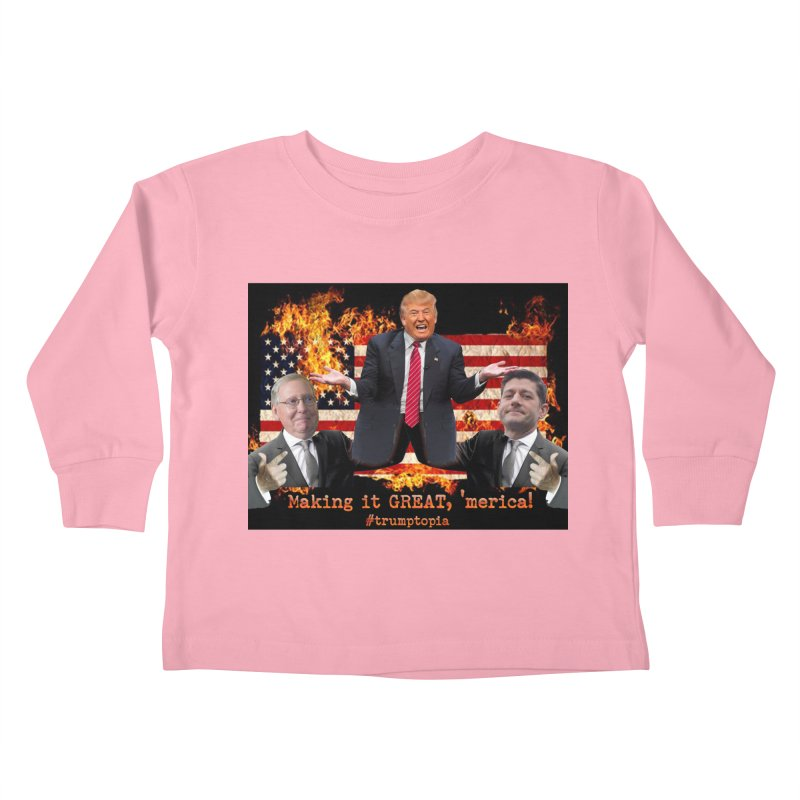 Trumptopia Kids Toddler Longsleeve T-Shirt by Fringe Walkers Shirts n Prints