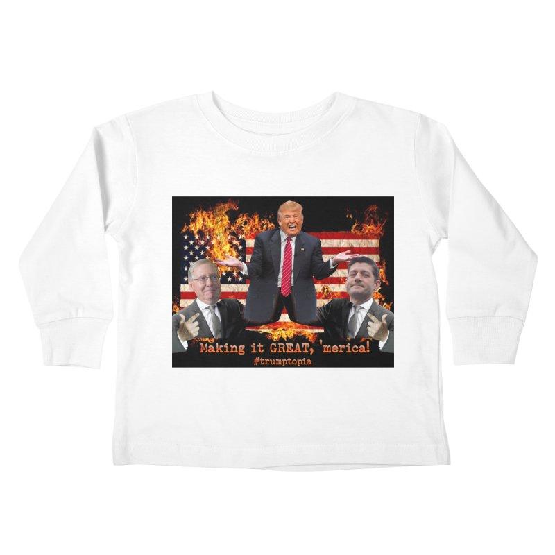 Trumptopia Kids Toddler Longsleeve T-Shirt by Fringe Walkers Shirts n Prints
