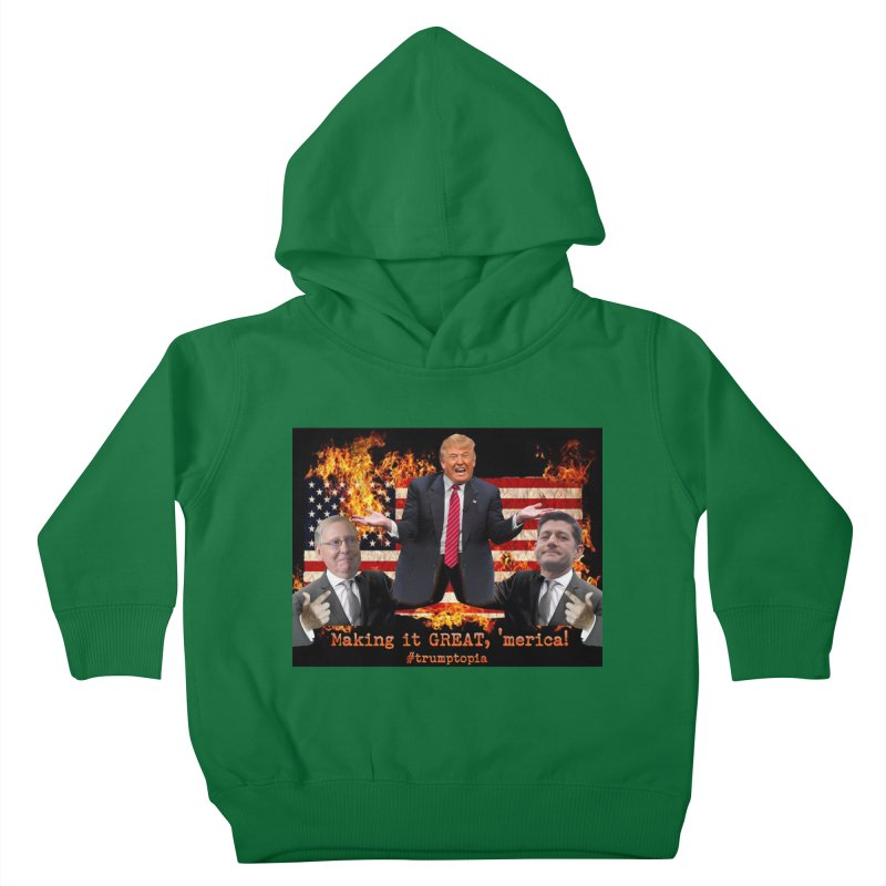 Trumptopia Kids Toddler Pullover Hoody by Fringe Walkers Shirts n Prints