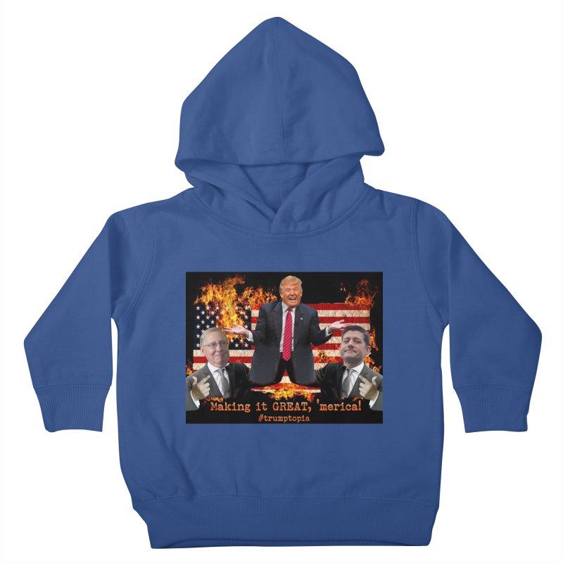 Trumptopia Kids Toddler Pullover Hoody by Fringe Walkers Shirts n Prints