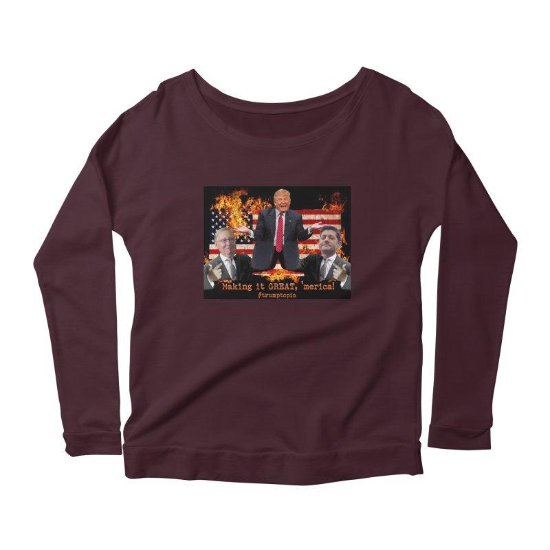Trumptopia Women's Longsleeve T-Shirt by Fringe Walkers Shirts n Prints