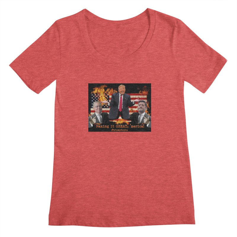 Trumptopia Women's Scoopneck by Fringe Walkers Shirts n Prints