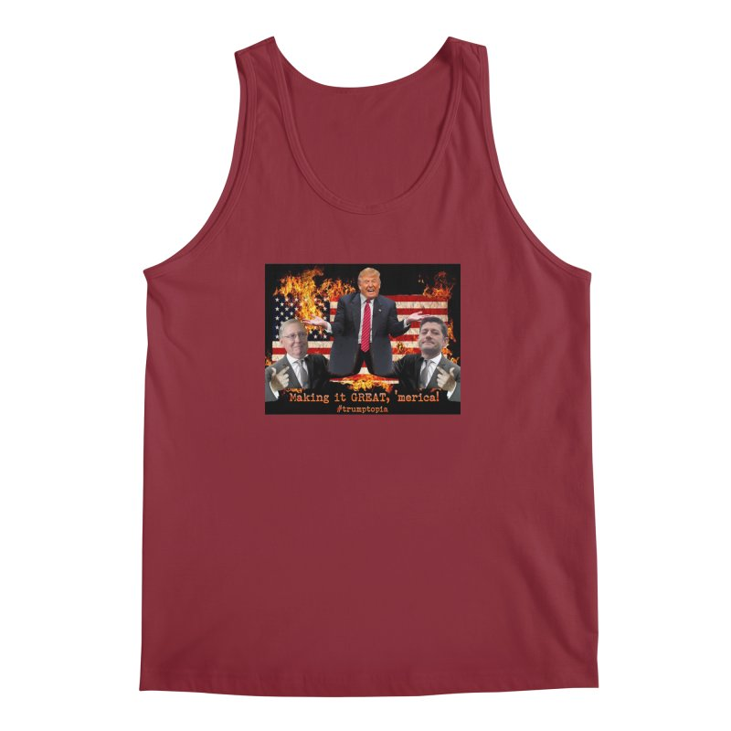 Trumptopia Men's Tank by Fringe Walkers Shirts n Prints