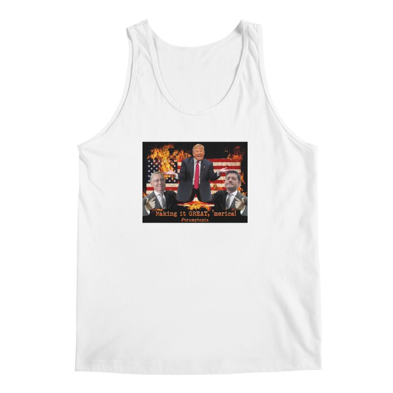 Trumptopia Men's Regular Tank by Fringe Walkers Shirts n Prints