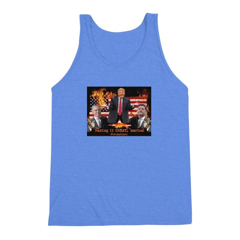 Trumptopia Men's Triblend Tank by Fringe Walkers Shirts n Prints