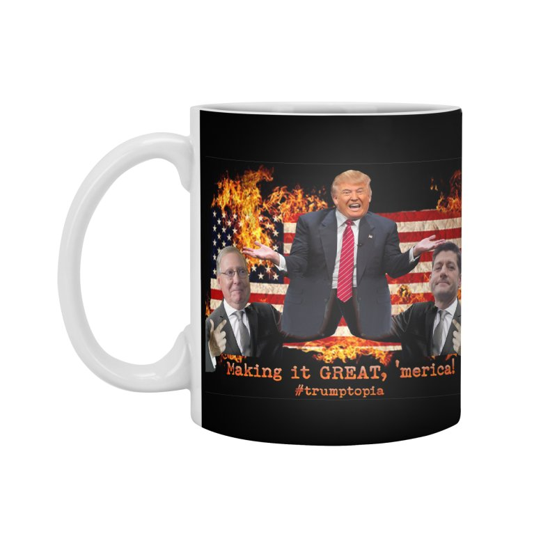 Trumptopia Accessories Standard Mug by Fringe Walkers Shirts n Prints