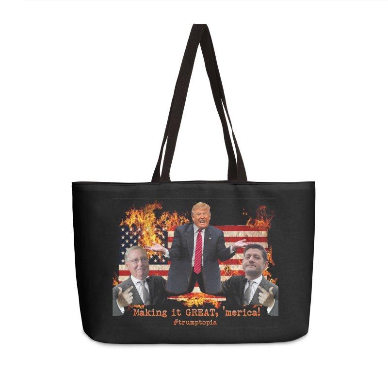 Trumptopia Accessories Weekender Bag Bag by Fringe Walkers Shirts n Prints