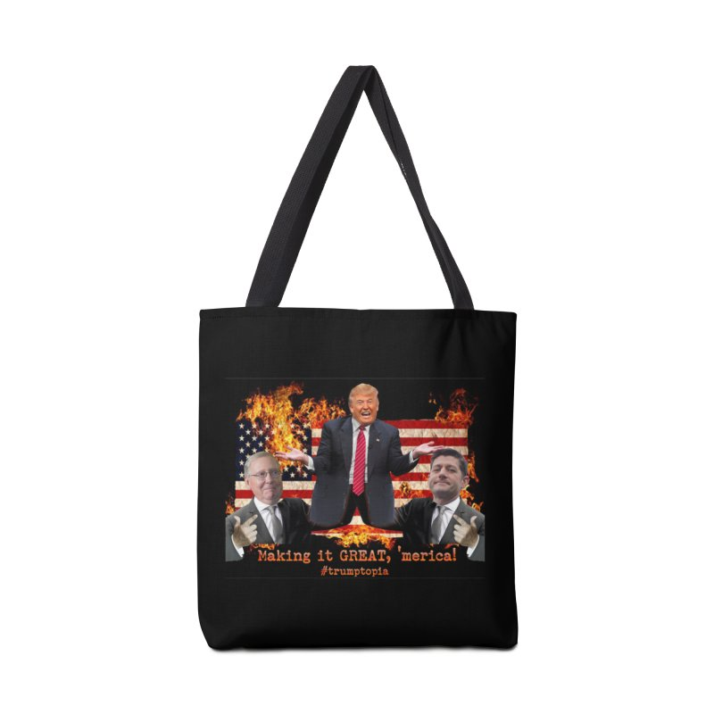 Trumptopia Accessories Tote Bag Bag by Fringe Walkers Shirts n Prints