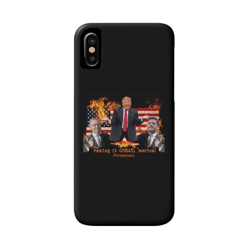 Trumptopia Accessories Phone Case by Fringe Walkers Shirts n Prints