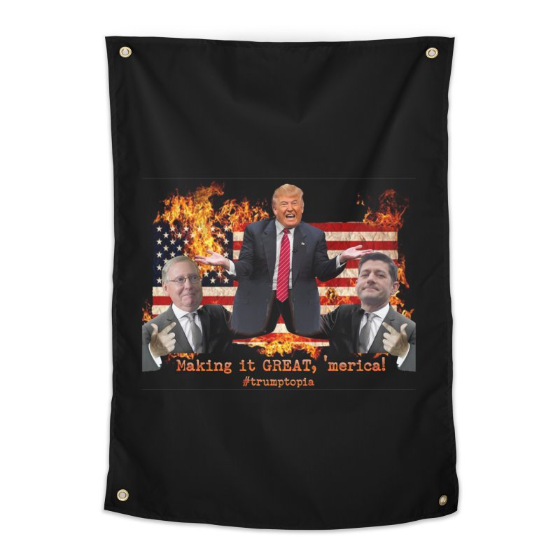 Trumptopia Home Tapestry by Fringe Walkers Shirts n Prints