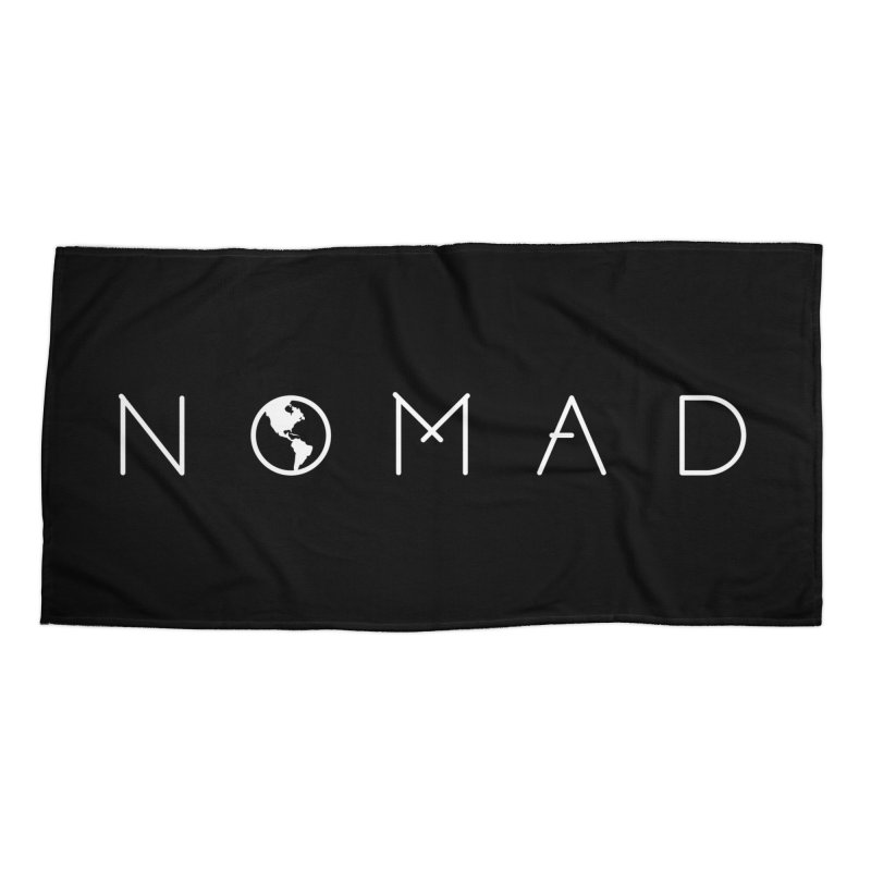 Nomad World Travel: Adventure, Wanderlust, Explorer Accessories Beach Towel by frippdesign's Artist Shop