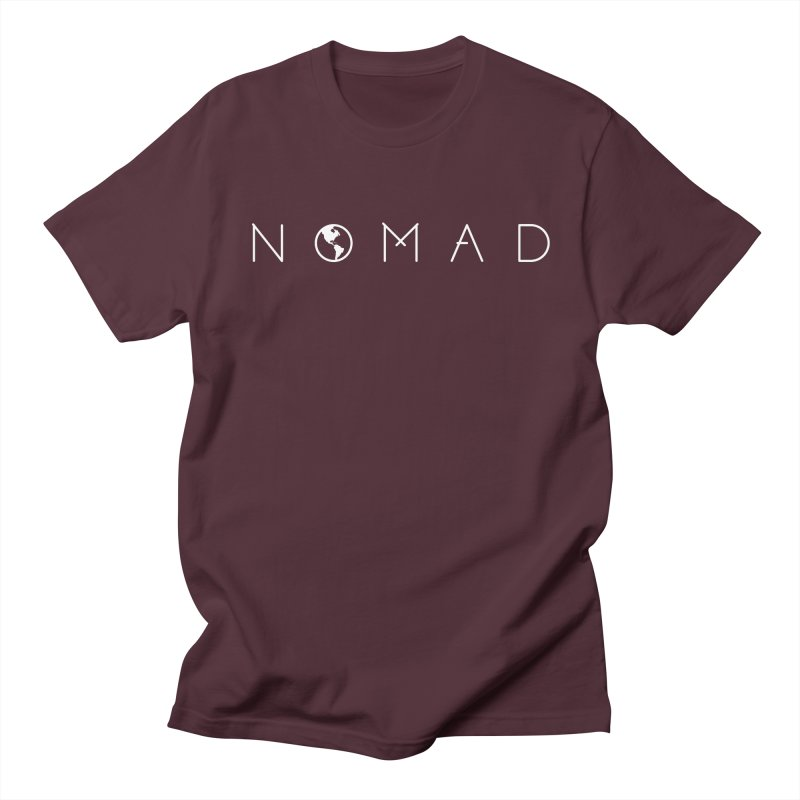 Nomad World Travel: Adventure, Wanderlust, Explorer Men's T-Shirt by frippdesign's Artist Shop