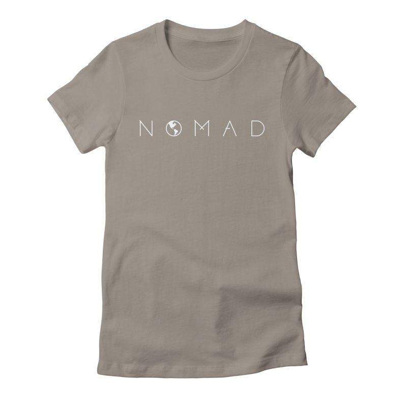 Nomad World Travel: Adventure, Wanderlust, Explorer Women's Fitted T-Shirt by frippdesign's Artist Shop