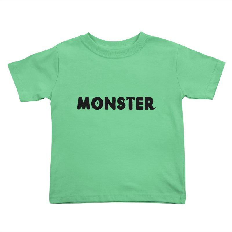 Little Monster Playful Type Kids apparel in Kids Toddler T-Shirt Grass by frippdesign's Artist Shop
