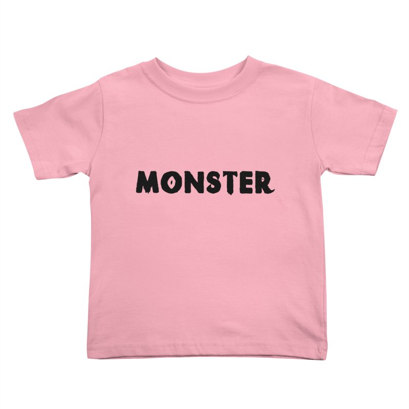 Little Monster Playful Type Kids apparel Kids Toddler T-Shirt by frippdesign's Artist Shop