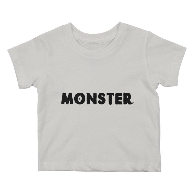 Little Monster Playful Type Kids apparel Kids Baby T-Shirt by frippdesign's Artist Shop