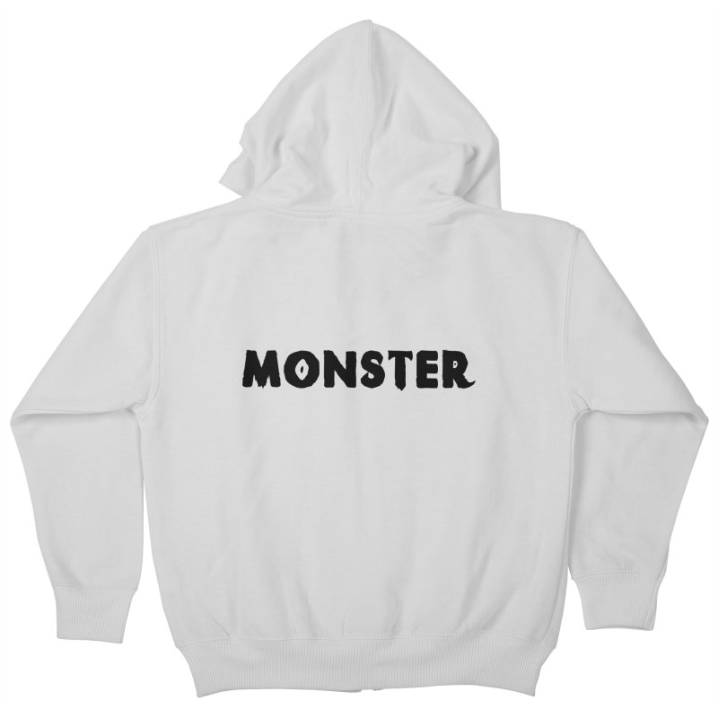 Little Monster Playful Type Kids apparel Kids Zip-Up Hoody by frippdesign's Artist Shop