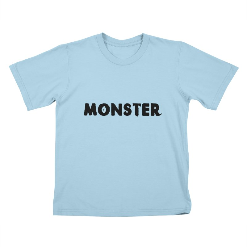 Little Monster Playful Type Kids apparel Kids T-Shirt by frippdesign's Artist Shop