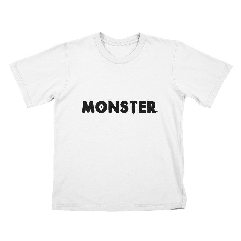 Little Monster Playful Type Kids apparel Kids T-Shirt by frippdesign's Artist Shop
