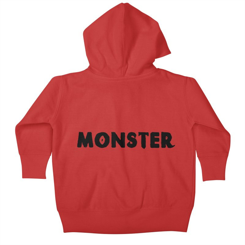 Little Monster Playful Type Kids apparel Kids Baby Zip-Up Hoody by frippdesign's Artist Shop