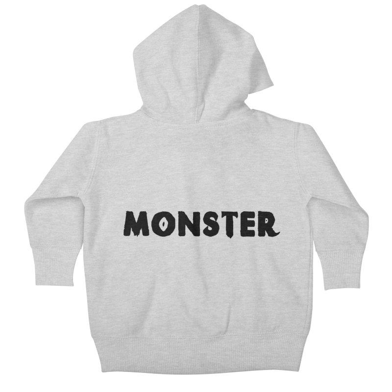 Little Monster Playful Type Kids apparel Kids Baby Zip-Up Hoody by frippdesign's Artist Shop