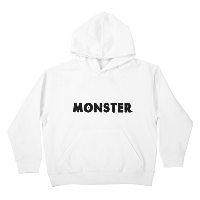 Little Monster Playful Type Kids apparel Kids Pullover Hoody by frippdesign's Artist Shop