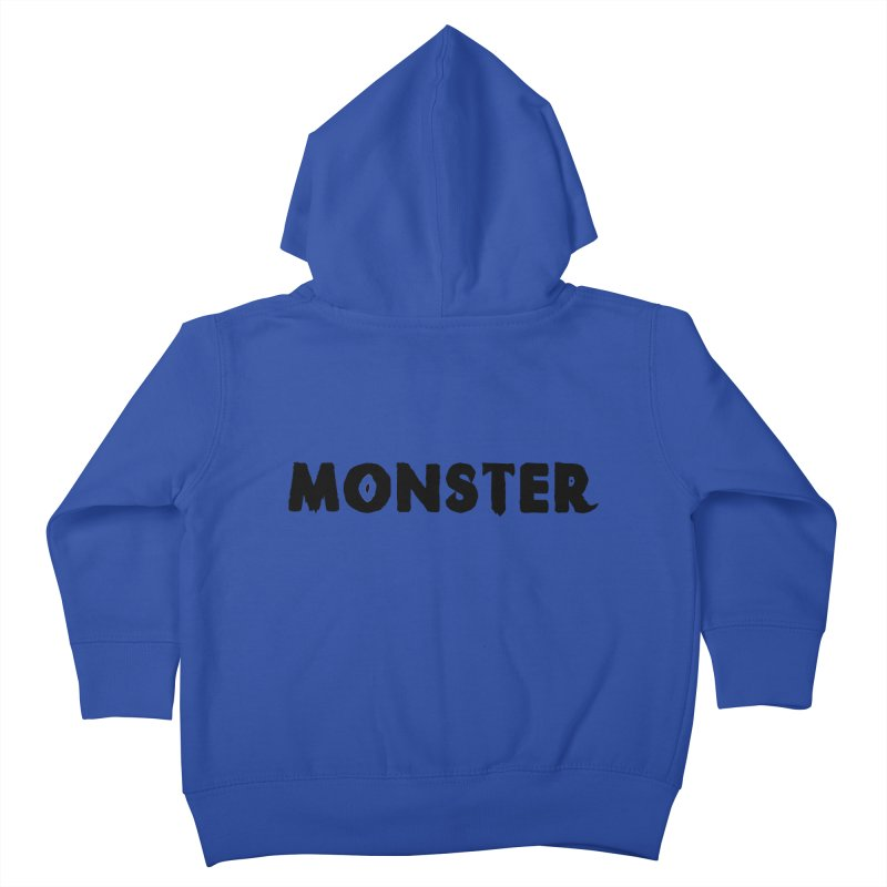 Little Monster Playful Type Kids apparel Kids Toddler Zip-Up Hoody by frippdesign's Artist Shop