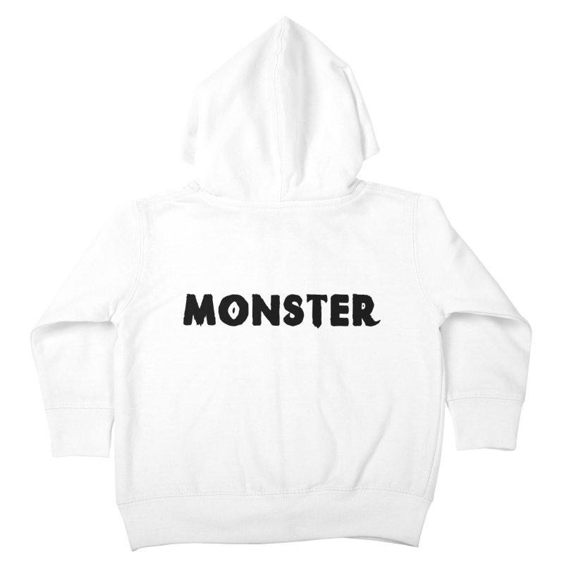 Little Monster Playful Type Kids apparel Kids Toddler Zip-Up Hoody by frippdesign's Artist Shop