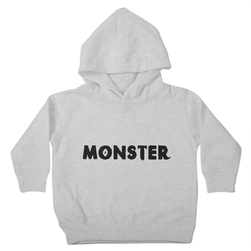 Little Monster Playful Type Kids apparel Kids Toddler Pullover Hoody by frippdesign's Artist Shop