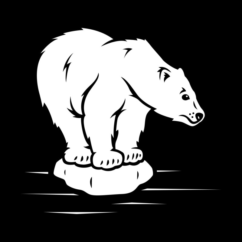 Save the Polar Bears, Isolated Polar Bear on Slab of Ice by frippdesign's Artist Shop