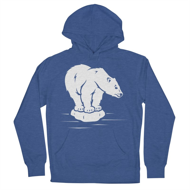 Save the Polar Bears, Isolated Polar Bear on Slab of Ice Men's Pullover Hoody by frippdesign's Artist Shop
