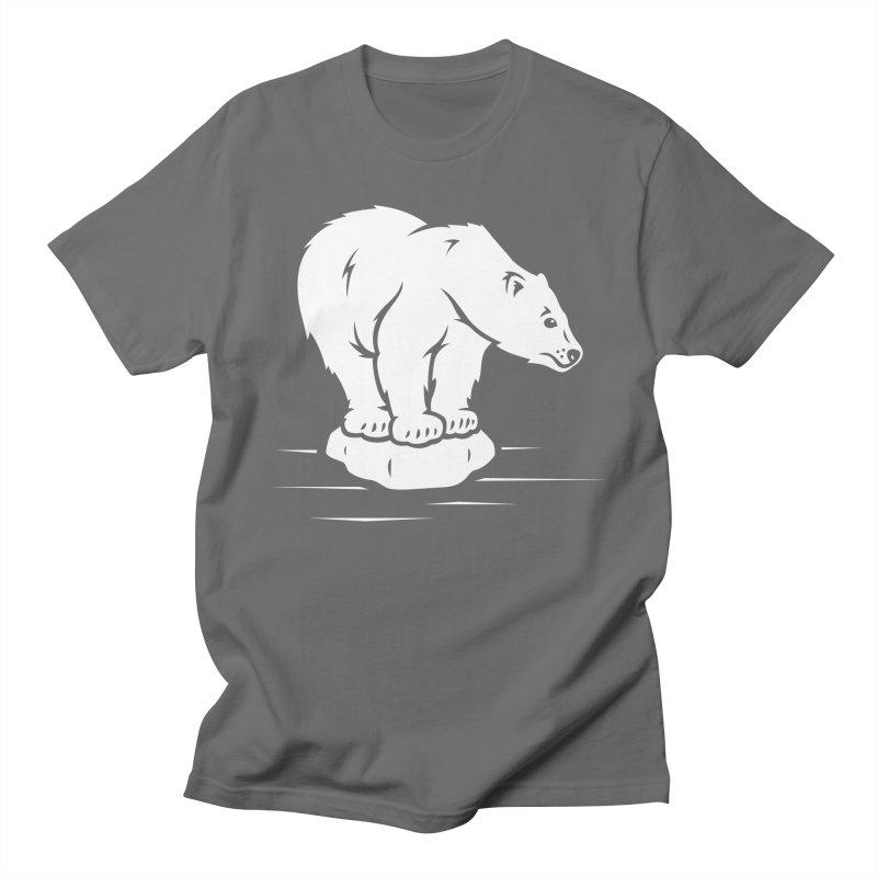Save the Polar Bears, Isolated Polar Bear on Slab of Ice Men's T-Shirt by frippdesign's Artist Shop