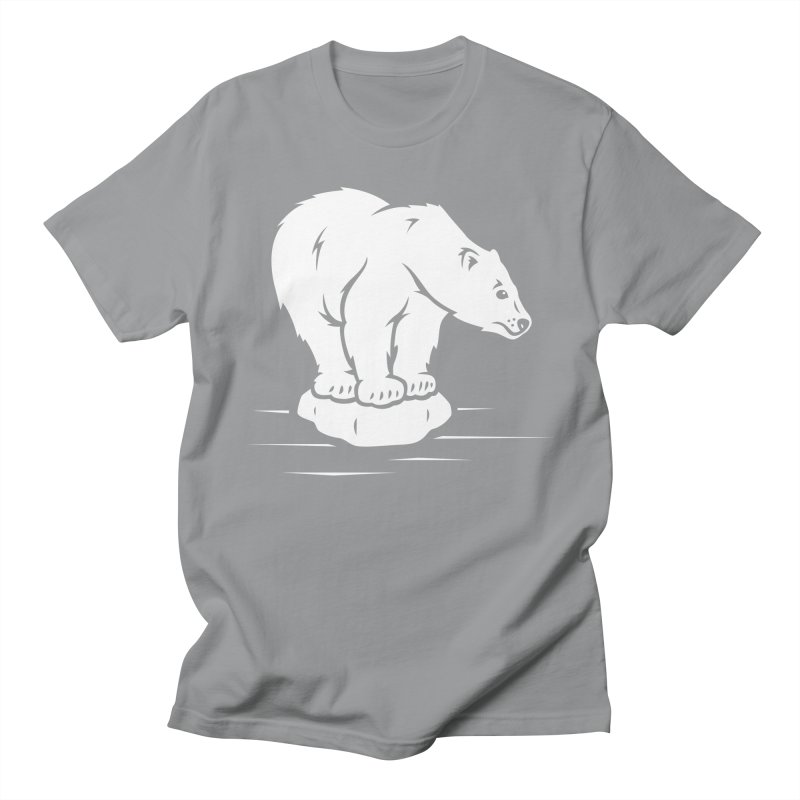Save the Polar Bears, Isolated Polar Bear on Slab of Ice Men's T-Shirt by frippdesign's Artist Shop