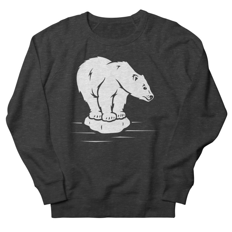 Save the Polar Bears, Isolated Polar Bear on Slab of Ice Women's Sweatshirt by frippdesign's Artist Shop