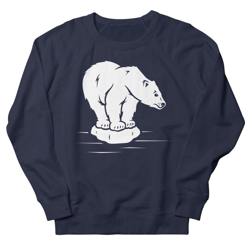 Save the Polar Bears, Isolated Polar Bear on Slab of Ice Women's Sweatshirt by frippdesign's Artist Shop