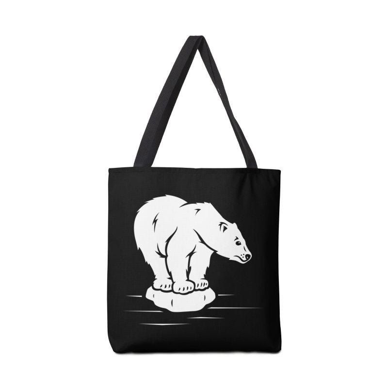 Save the Polar Bears, Isolated Polar Bear on Slab of Ice Accessories Bag by frippdesign's Artist Shop