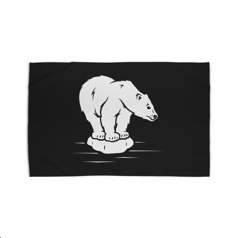 Save the Polar Bears, Isolated Polar Bear on Slab of Ice Home Rug by frippdesign's Artist Shop